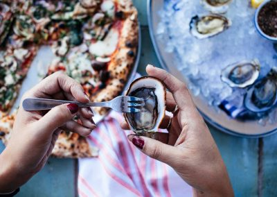 Vegetarian Wood Fired Pizza & Sydney Rock Oysters